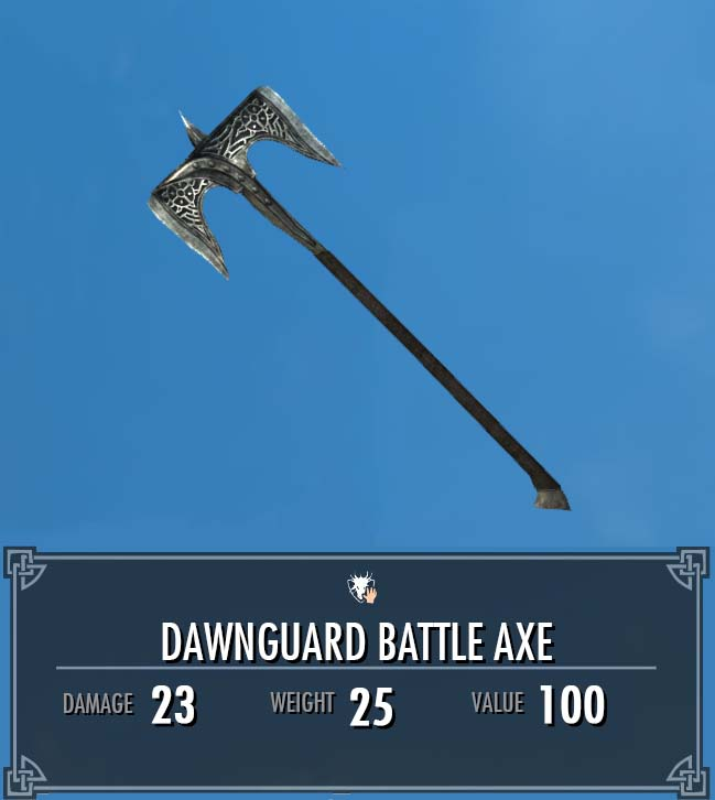 Dawnguard Battle Axe (Heavy Armory)
