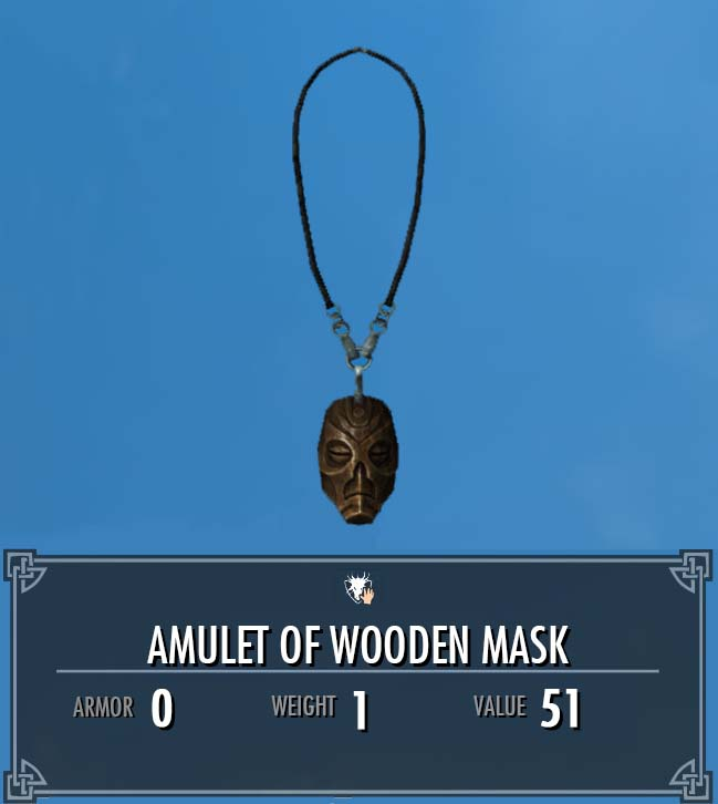 Amulet of Wooden Mask