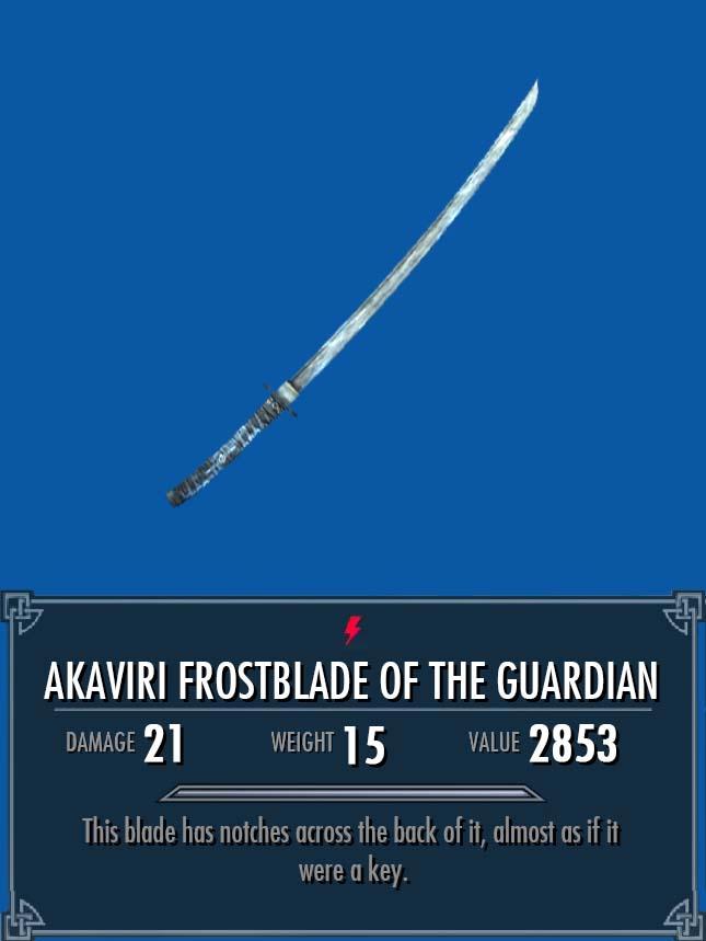 Akaviri Frostblade of the Guardian