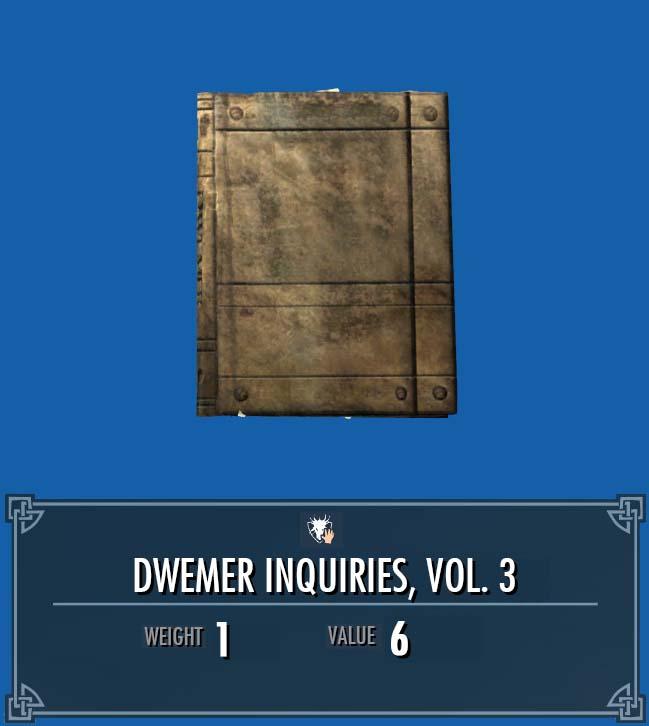 Dwemer Inquiries, Vol. 3