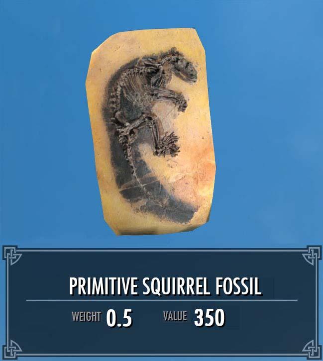 Primitive Squirrel Fossil