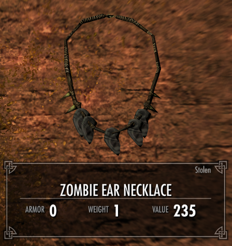 Zombie Ear Necklace