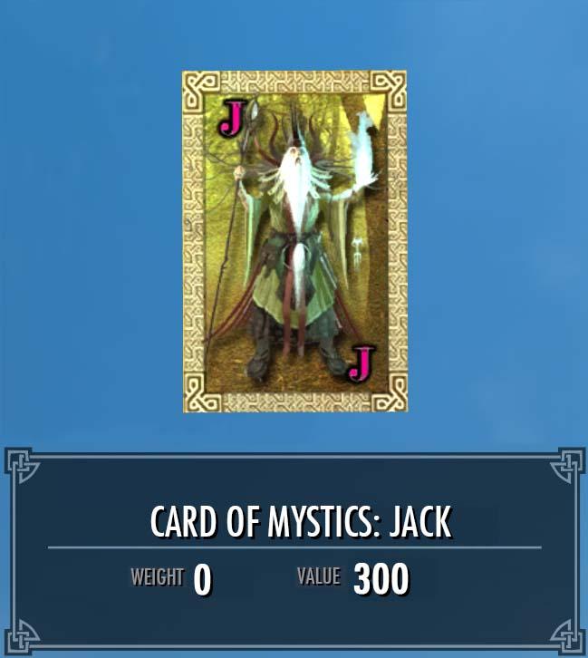 Card of Mystics: Jack