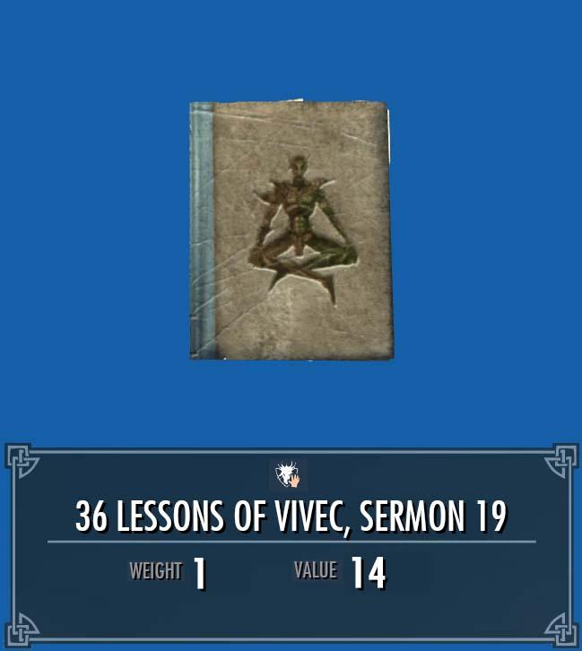 36 Lessons of Vivec, Sermon 19