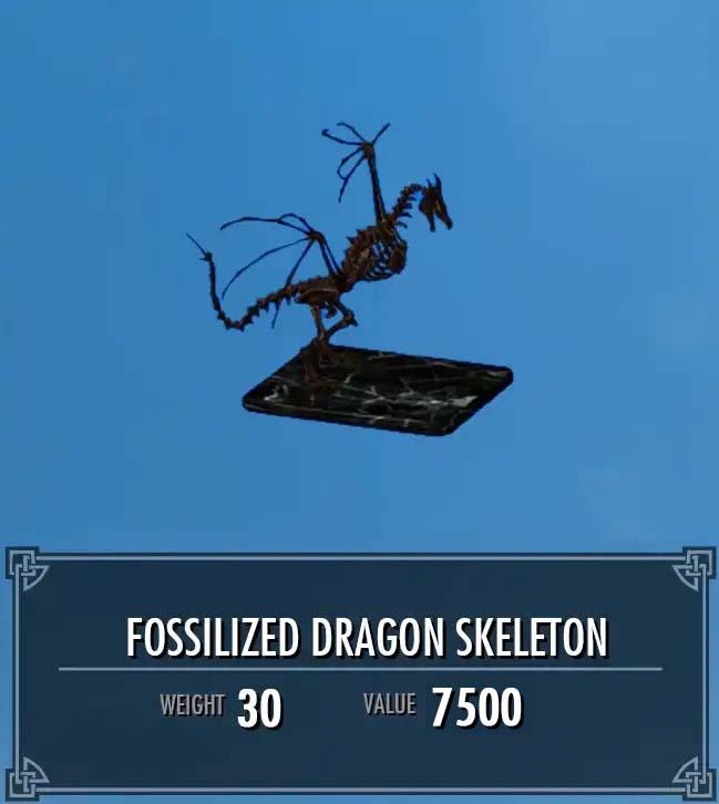 Fossilized Dragon Skeleton
