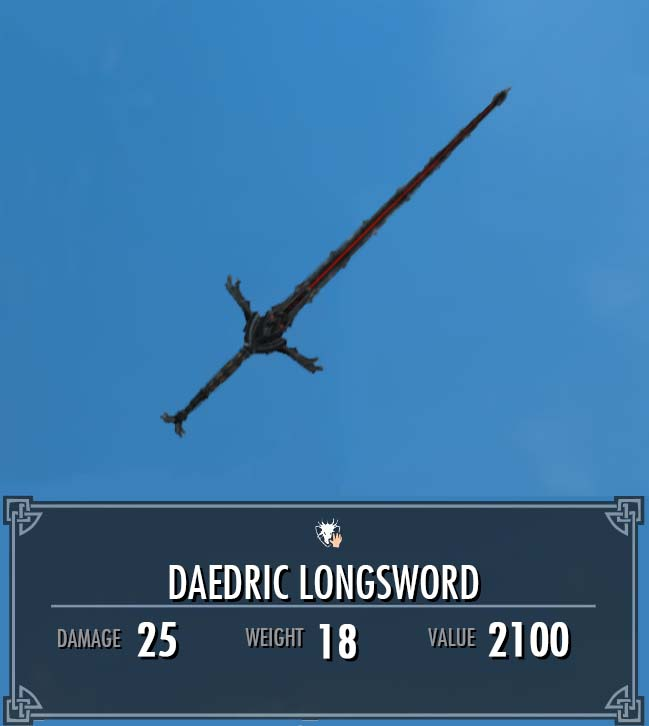Daedric Longsword