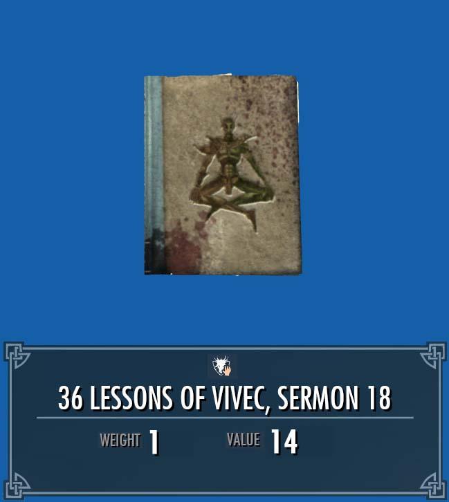 36 Lessons of Vivec, Sermon 18