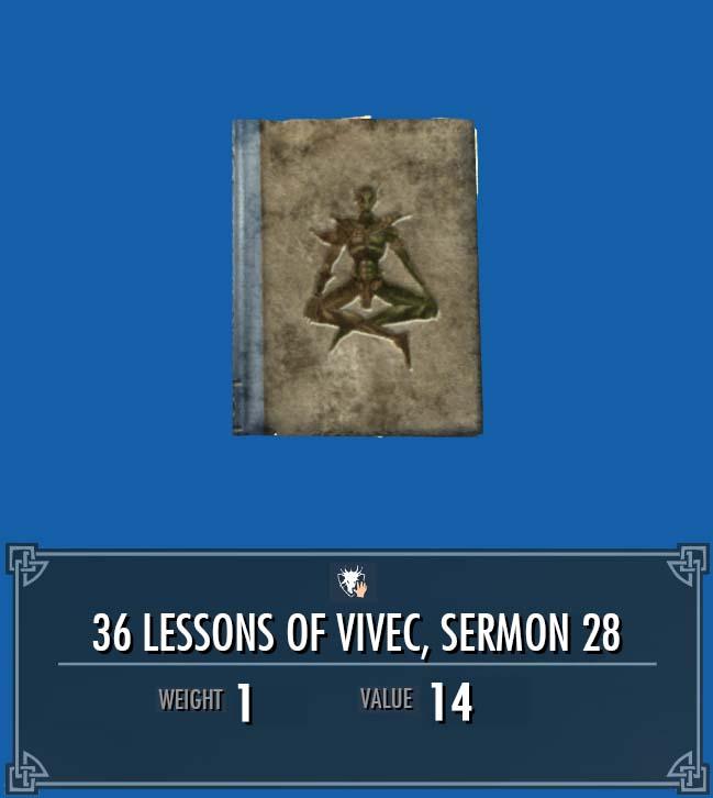 36 Lessons of Vivec, Sermon 28