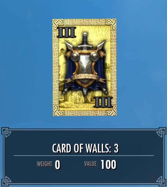 Card of Walls: 3