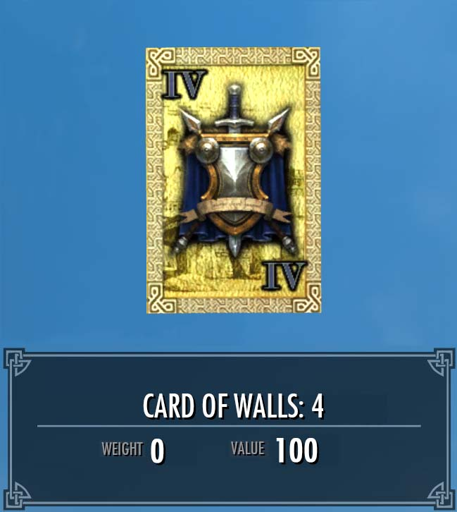Card of Walls: 4