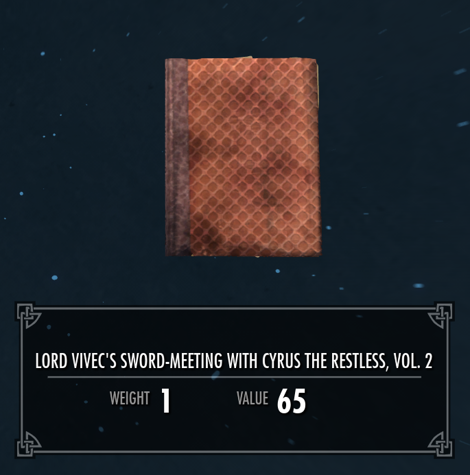 Lord Vivec's Sword-Meeting with Cyrus the Restless, Vol. 2