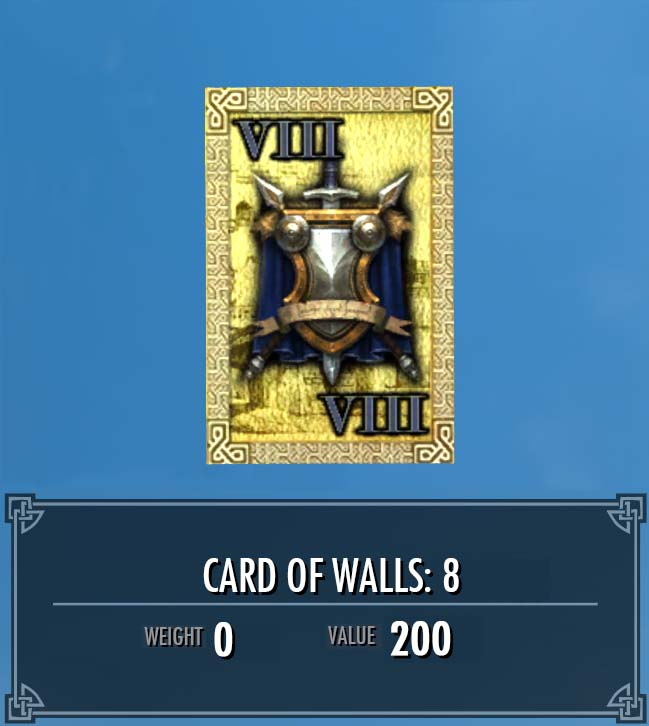 Card of Walls: 8