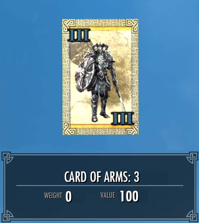 Card of Arms: 3