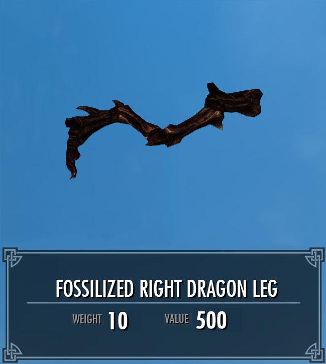 Fossilized Right Dragon Leg