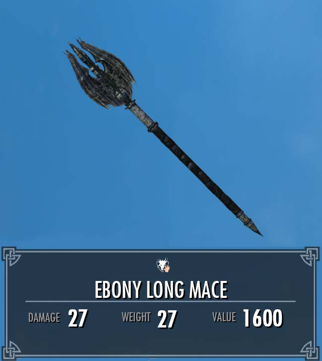 Ebony Long Mace