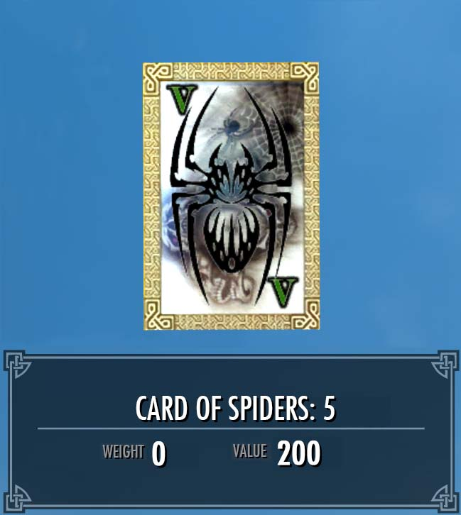 Card of Spiders: 5