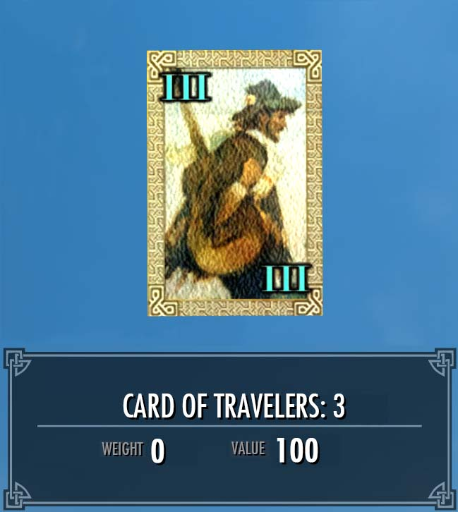 Card of Travelers: 3