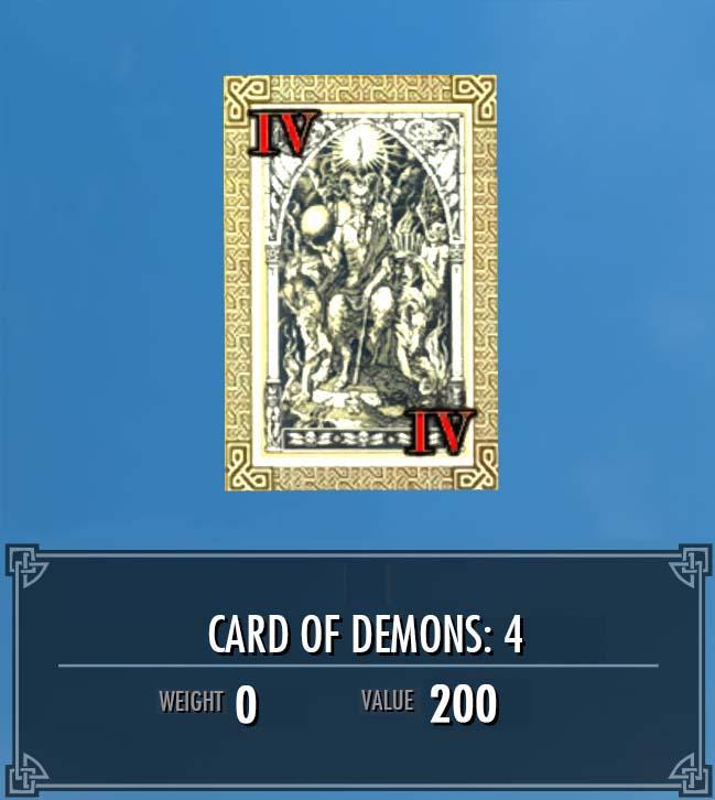 Card of Demons: 4