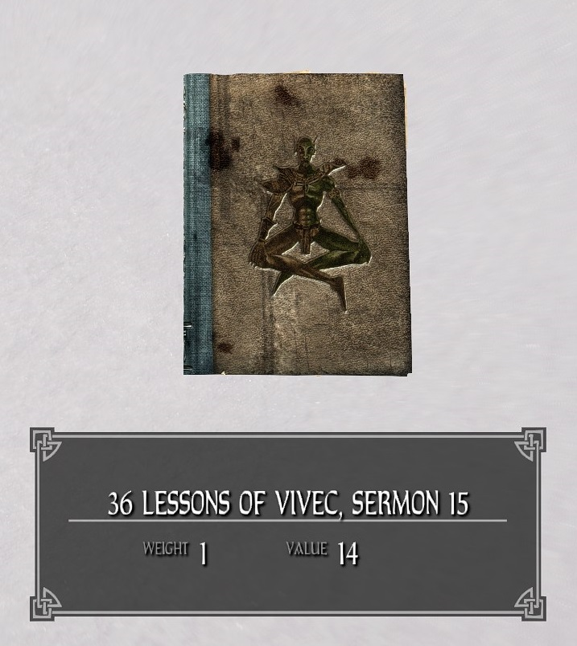 36 Lessons of Vivec, Sermon 15