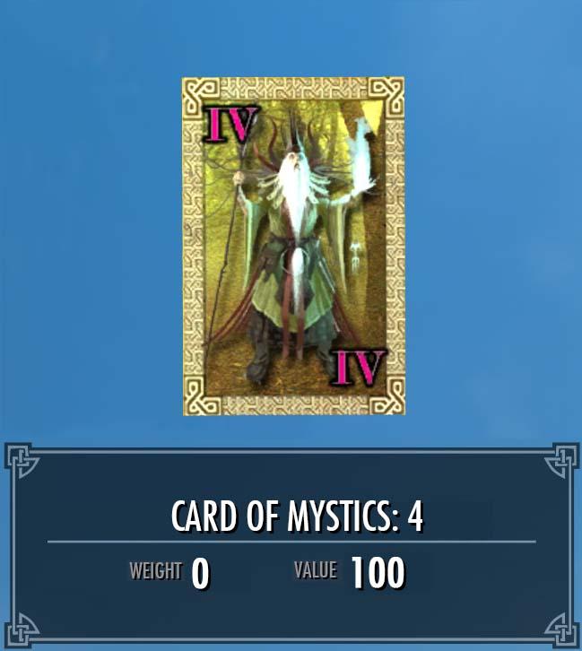 Card of Mystics: 4