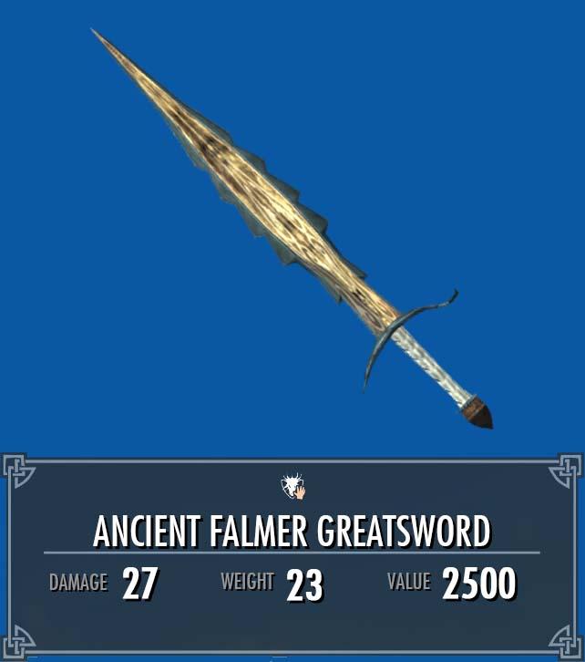 Ancient Falmer Greatsword