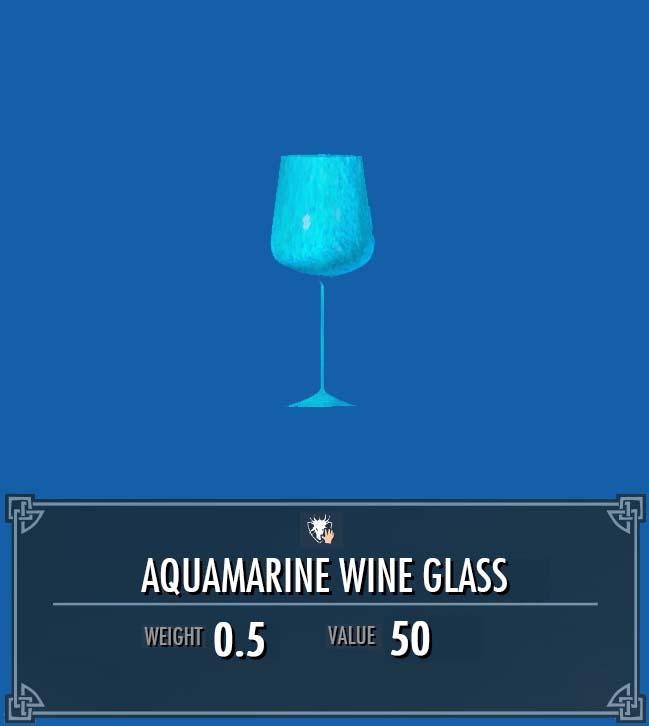 Aquamarine Wine Glass