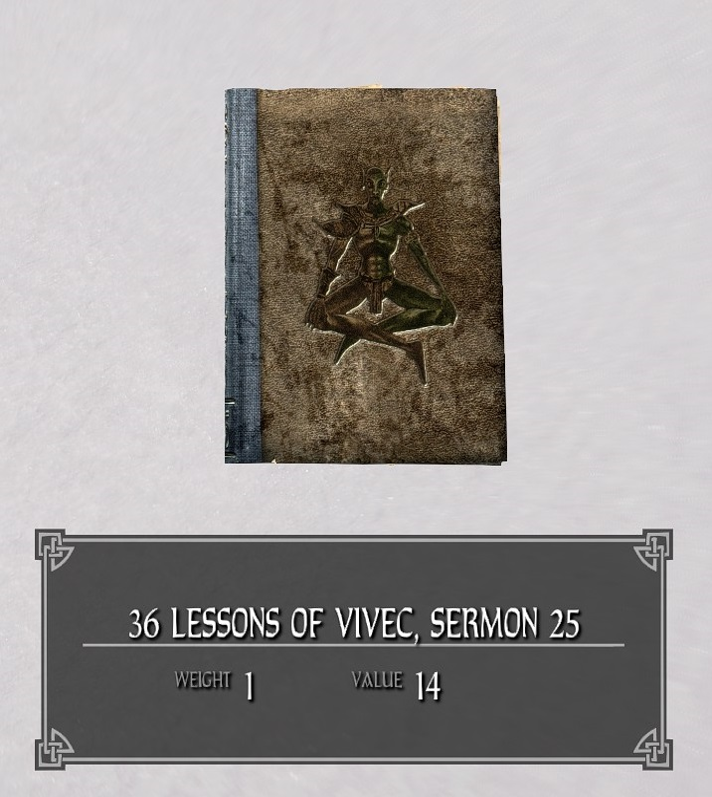 36 Lessons of Vivec, Sermon 25