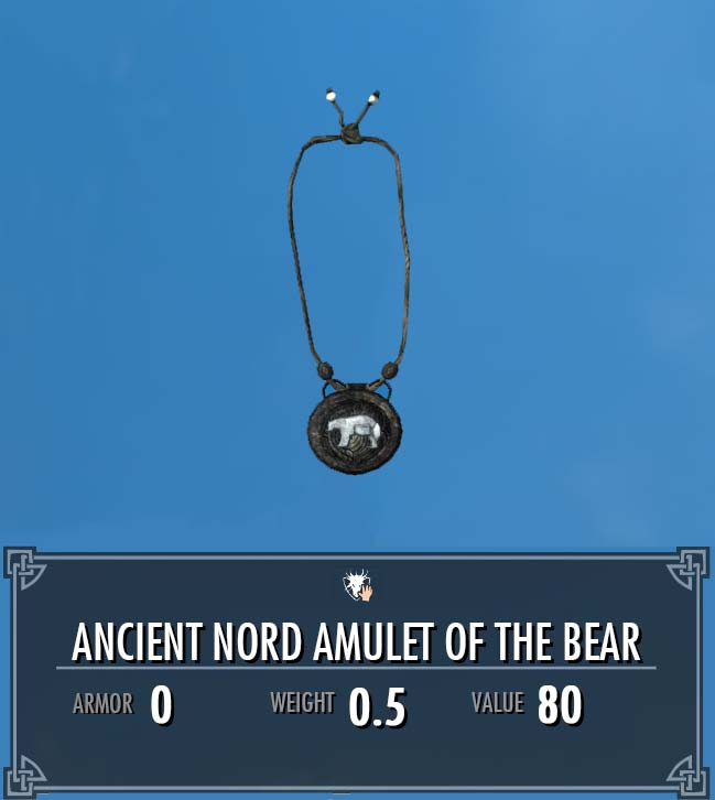 Ancient Nord Amulet of the Bear