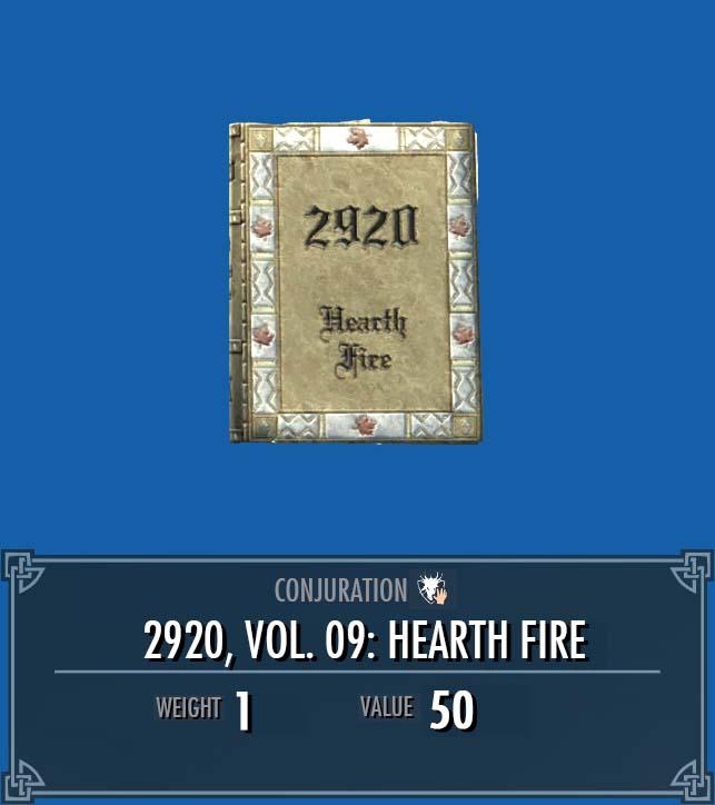 2920, Vol. 09: Hearth Fire