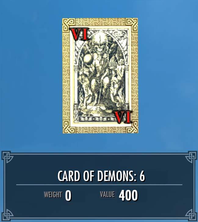 Card of Demons: 6