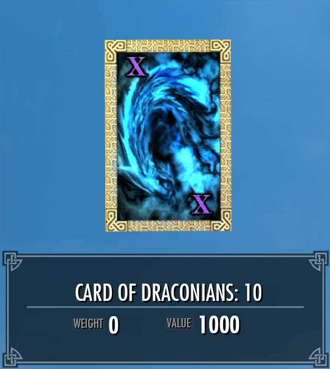 Card of Draconians: 10
