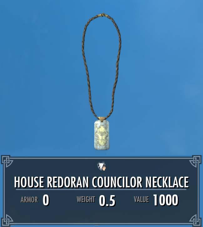 House Redoran Councilor Necklace
