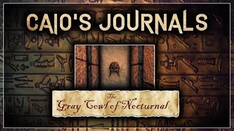 """QUICK Caio's Journal Guide! - """"The Gray Cowl of Nocturnal"""" - Skyrim SE (Legacy)"""