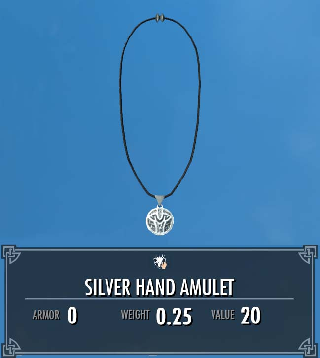 Silver Hand Amulet
