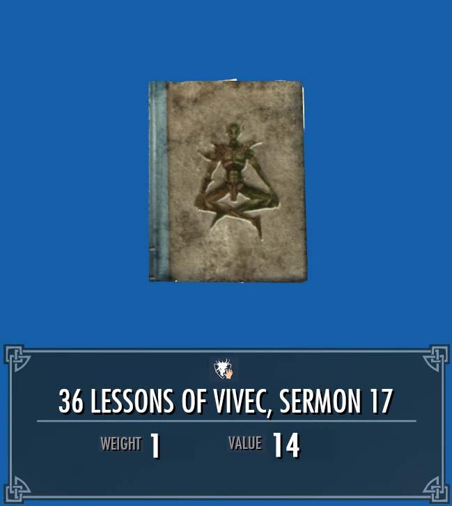 36 Lessons of Vivec, Sermon 17