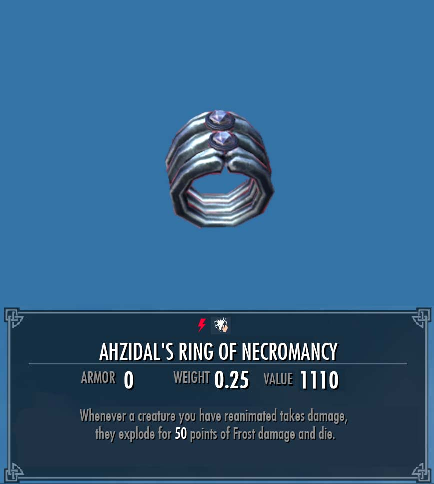 Ahzidal's Ring of Necromancy