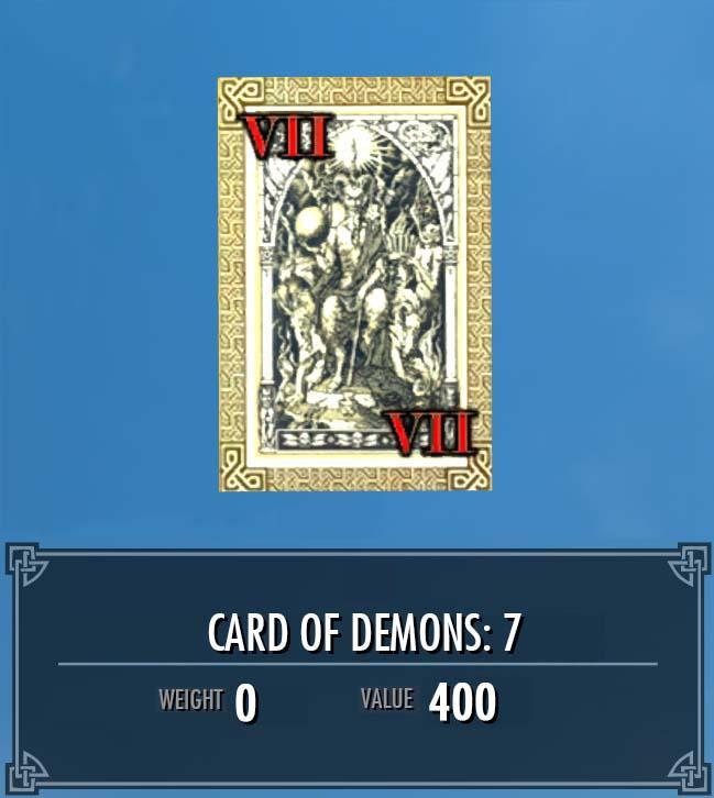 Card of Demons: 7