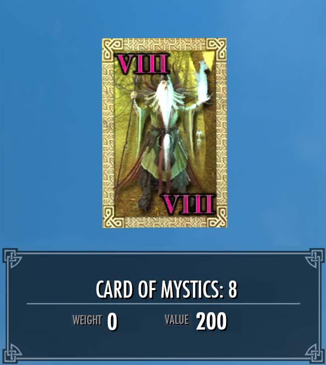 Card of Mystics: 8
