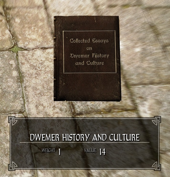 Dwemer History and Culture (1)