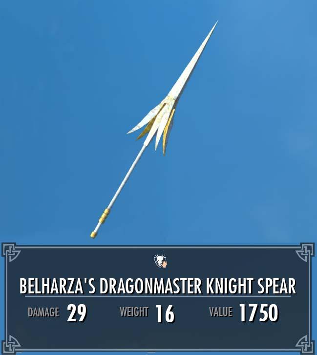 Belharza's Dragonmaster Knight Spear