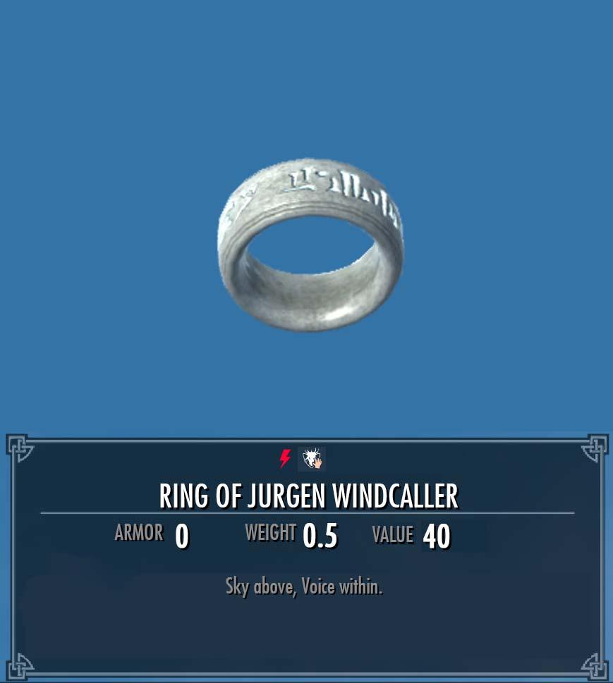 Ring of Jurgen Windcaller