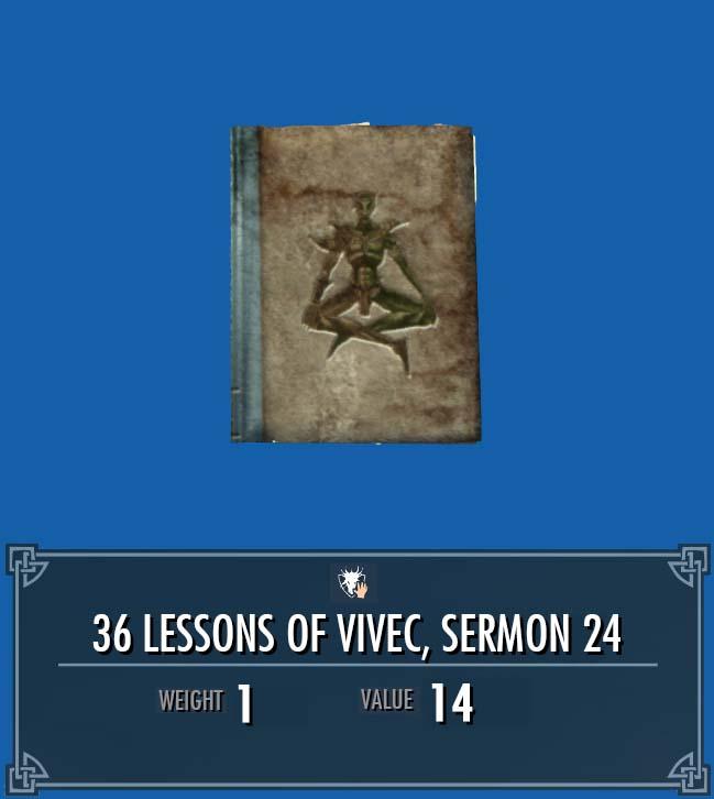 36 Lessons of Vivec, Sermon 24