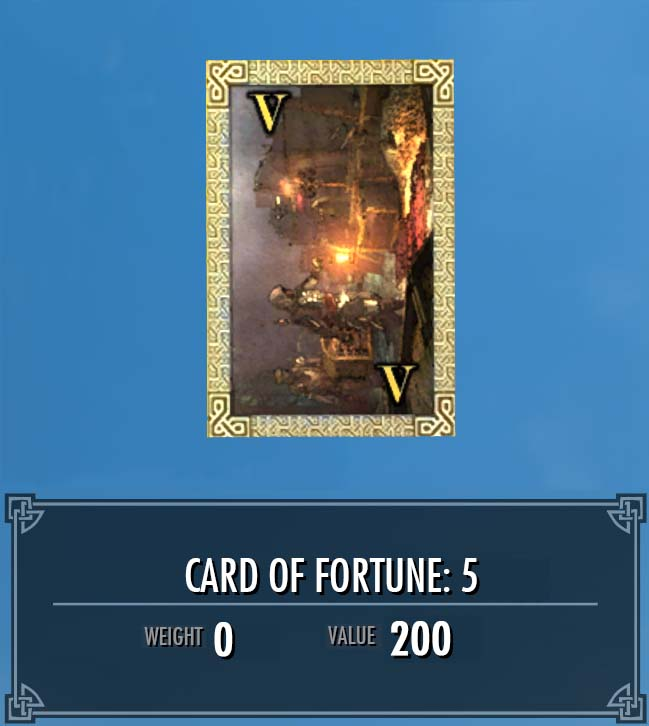 Card of Fortune: 5