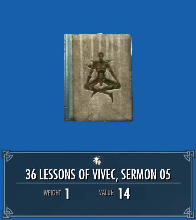 36 Lessons of Vivec, Sermon 05