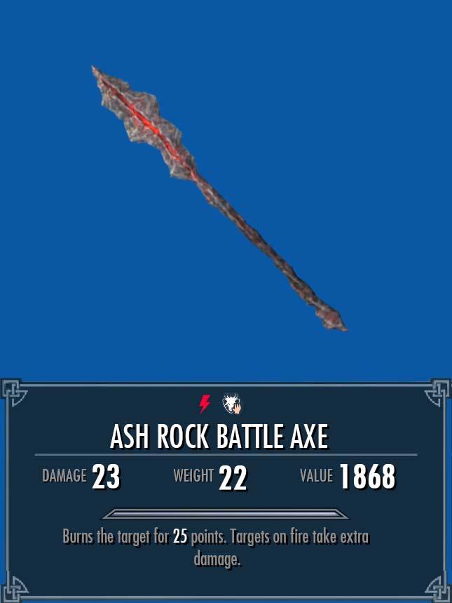 Ash Rock Battle Axe