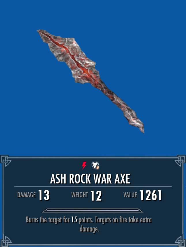 Ash Rock War Axe