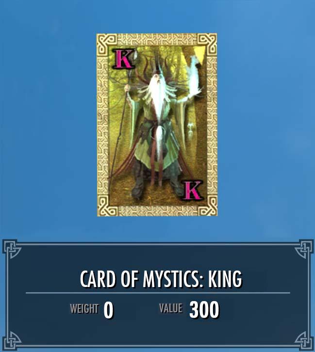 Card of Mystics: King