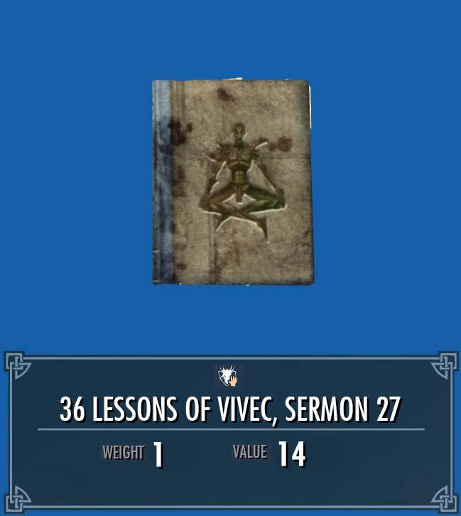 36 Lessons of Vivec, Sermon 27
