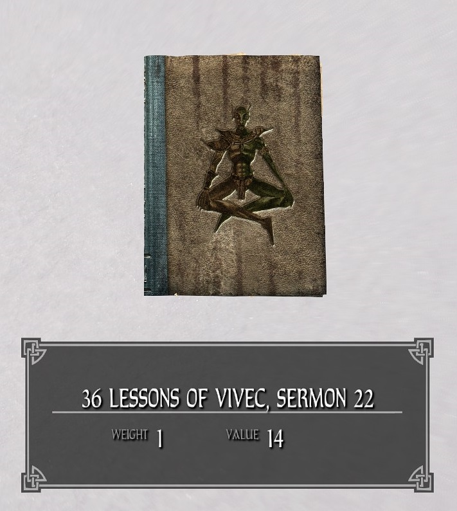 36 Lessons of Vivec, Sermon 22