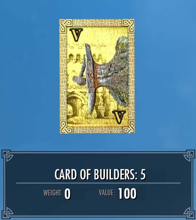 Card of Builders: 5